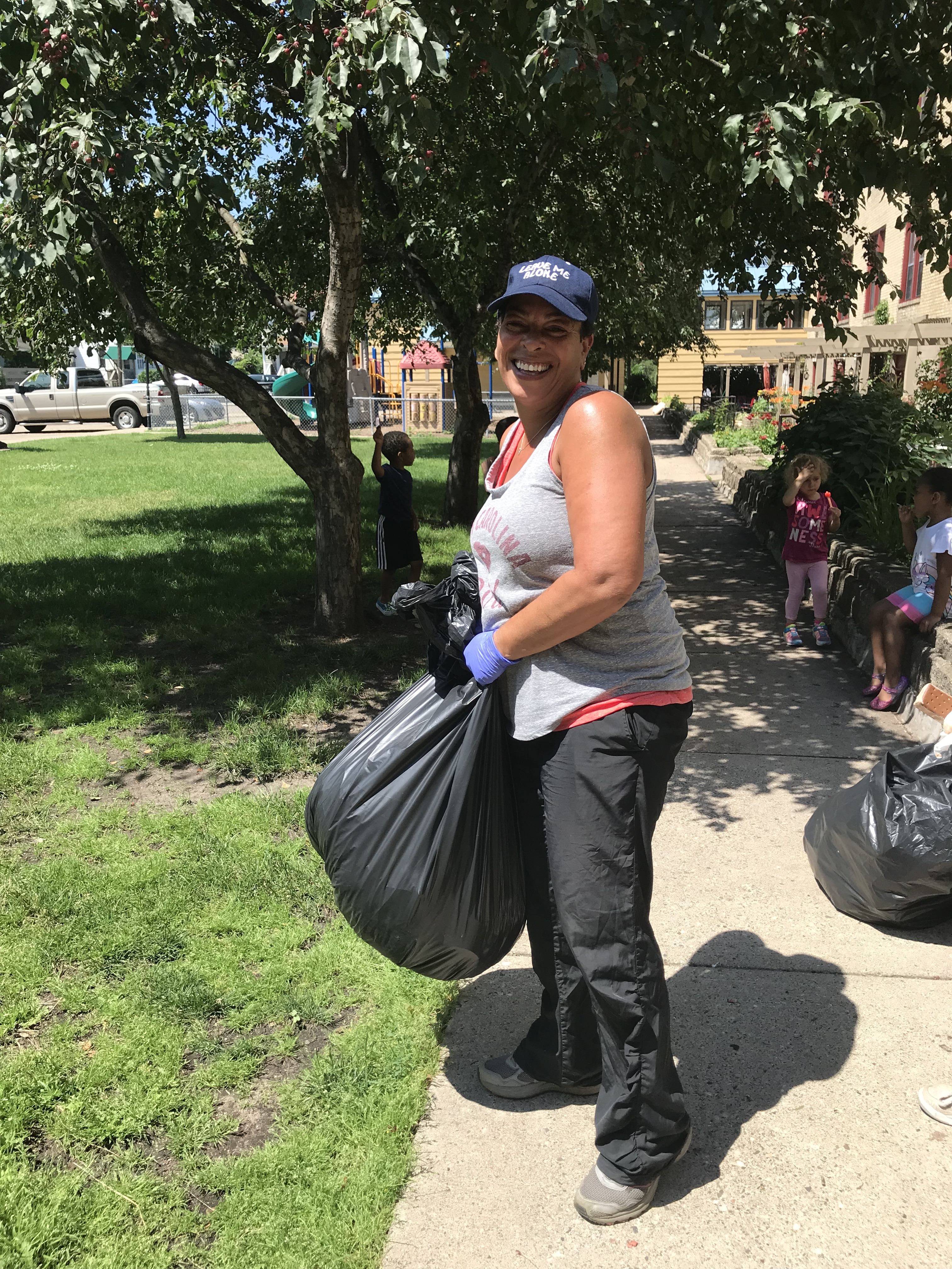 Michelle Presley, the organizer of the clean-up day.
