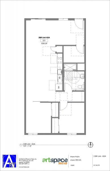 2 Bedroom ADA Floorplan