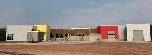 The newly constructed Oglala Lakota Artspace on the Pine Ridge Reservation in South Dakota