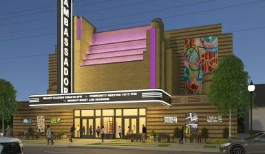 Conceptual rendering of future Ambassador Theater - Baltimore, Maryland