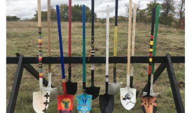 Artist Designed Shovels